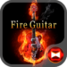 Stylish Theme Fire Guitar