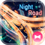 Stylish Theme Night Road