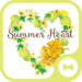 Summer Heart  Flower Wallpaper