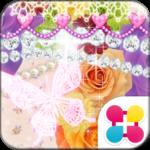 蝶と薔薇の姫系壁紙 Sweet color