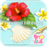 Tropical Hibiscus-Wallpaper