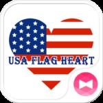 USA Flag Heart Wallpaper