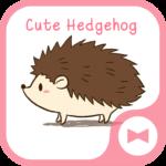 Wallpaper Cute Hedgehog Theme