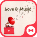 Wallpaper Love & Music Theme