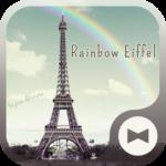 Wallpaper Rainbow Eiffel Theme