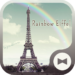 Wallpaper Rainbow Eiffel Theme