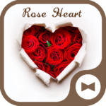 Wallpaper Rose Heart Theme
