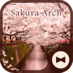 Wallpaper Sakura Arch Theme