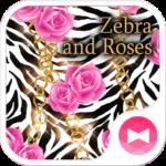 Zebra and Roses Wallpaper