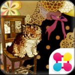 猫の和風ガーリー壁紙 moderncat
