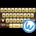Darkbrown keyboard image