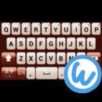 Maroon keyboard image