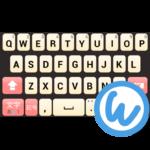 Peach keyboard image