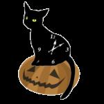 The Black Cat Analog Clock