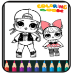 Coloring Book Dolls – Easy Drawing