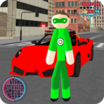Green Stickman Rope Hero Gangstar Crime