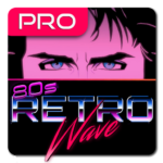 Retrowave Wallpapers PRO (Live Walls,GIFs & Radio)