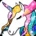 Unicorn Coloring Book Glitter