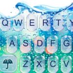 Water Keyboard –  Blue Glass Water Keyboard Theme